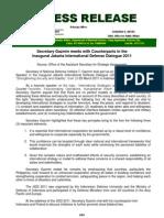 DND-OPA - Press Release - Sec. Gazmin in Jakarta Defense Meeting - 8 April 2011