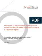 Assessment of key negotiating issues at Nairobi climate COP/MOP and what it means for the future of the climate regime