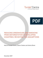 REDUCING GREENHOUSE GAS EMISSIONS FROM DEFORESTATION IN DEVELOPING COUNTRIES