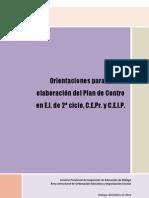Sugerencias Plan de Centro - Malaga - Ceip