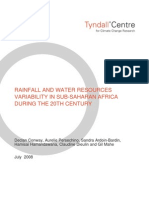RAINFALL AND WATER RESOURCES VARIABILITY IN SUB-SAHARAN AFRICA DURING THE 20TH CENTURY