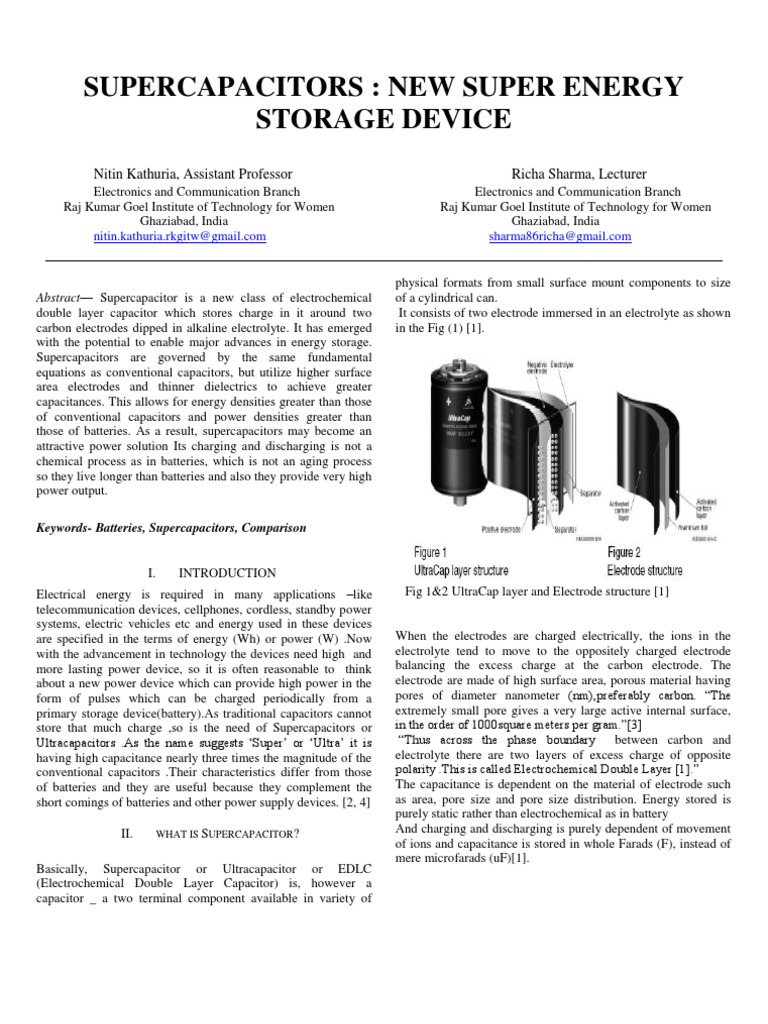 supercapacitor | Capacitor | Energy Storage