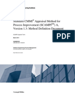 Standard CMMI Appraisal Method for Process Improvement (SCAMPI)  A, Version 1.3