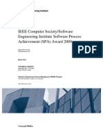 IEEE Computer Society/Software Engineering Institute Software Process Achievement (SPA) Award 2009