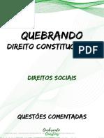 Aula - 4 - 2 - Direitos Sociais - Questões Comentadas.