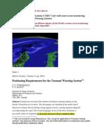 Meteor Burst Comm for Tsunami Warning System