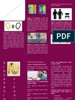 folleto de discapacidad visual