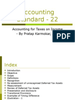 Accounting Standard - 22