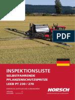 Horsch Leeb PT 230-270 Betriebsanleitung