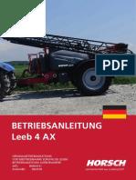 Horsch Leeb 4 AX Betriebsanleitung