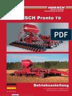 Horsch Pronto 5 TD Betriebsanleitung