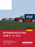 Horsch Leeb 4-5-6 LT Betriebsanleitung