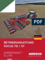 Horsch Focus TD-ST Betreibsanleitung