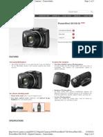Canon SX130 Specs