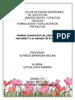Análisis constructivo de Qué es el mercadeo LETICIA CRUZ ROMERO