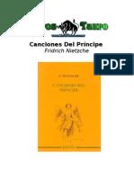 Nietzsche, Friedrich - Canciones Del Principe