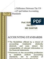 Diffarence between US GAAP and indian accounting standards
