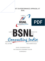 PROJECT REPORT ON PERFORMANCE APPRAISAL AT BSNL