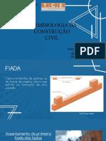 TERMINOLOGIA DA CONSTRUÇÃO CIVIL