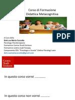 Mareriale Didattica Metacognitiva Orvieto Giugno 2016 Erickson