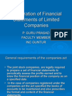 ACCOUNTING FOR LIMITED COMPANIES