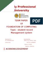 student record cccc