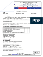 examen et corrige allemand 2ASLLE T2 2019
