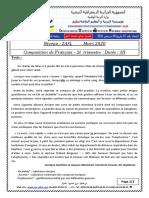 examen et correction francais 2ASL T2 2020