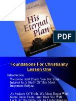 Lesson 1 Foundation for Christianity