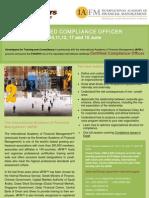 Certified Compliance Officer, June 2011