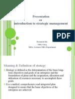 2232.Presentation on Strategic managemnt