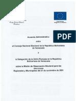 CNE y UE suscriben acuerdo sobre Misión de Observación Internacional para el #21Nov