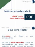 FunçãoRelaçãoSemana10