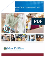 Complying With Ohio Consumer Law - A Guide for Businesses