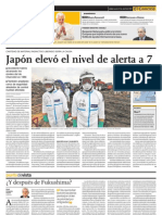 Japón elevo el nivel de alerta a 7