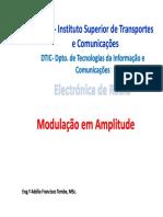 Aula 7 - Modulação Em Amplitude (1)