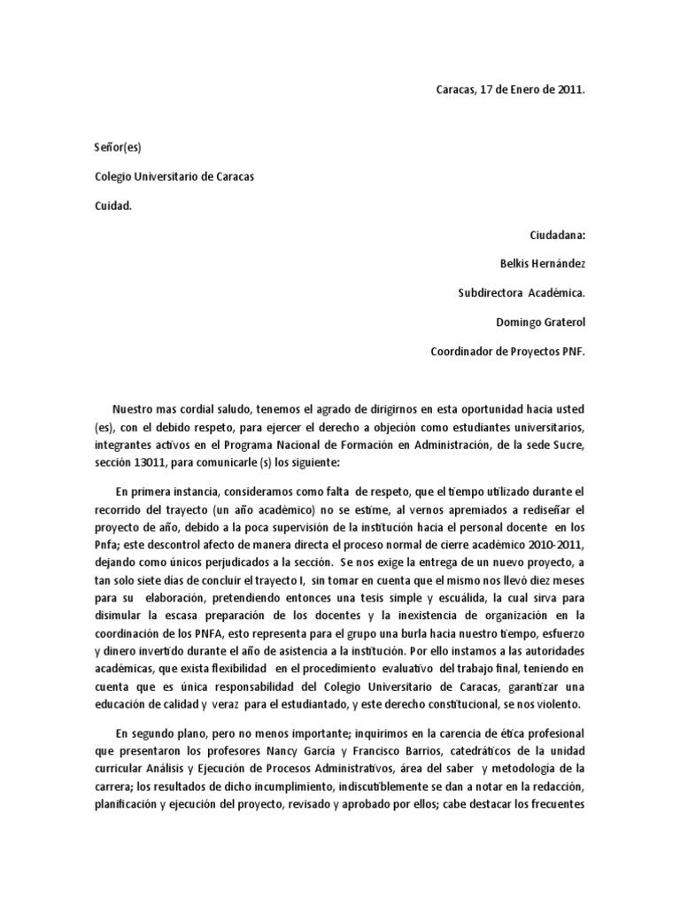 Carta Formal Ejemplo Para Director Top Quotes V