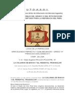 14º La Columna de Enoch y el Pedestal Triangular - V.·.H.·. Vlado Eugenio Pavlich Polastri, 14°