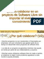 ¿Cómo colaborar con el SoftwareLibre sin importar el conocimiento?