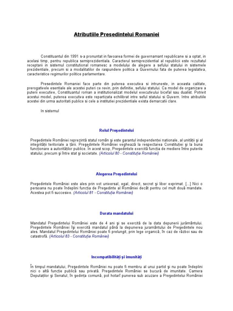 imunitate parlamentara definitie