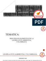 ELEMENTOS DE LA LEGISLACION AMBIENTAL