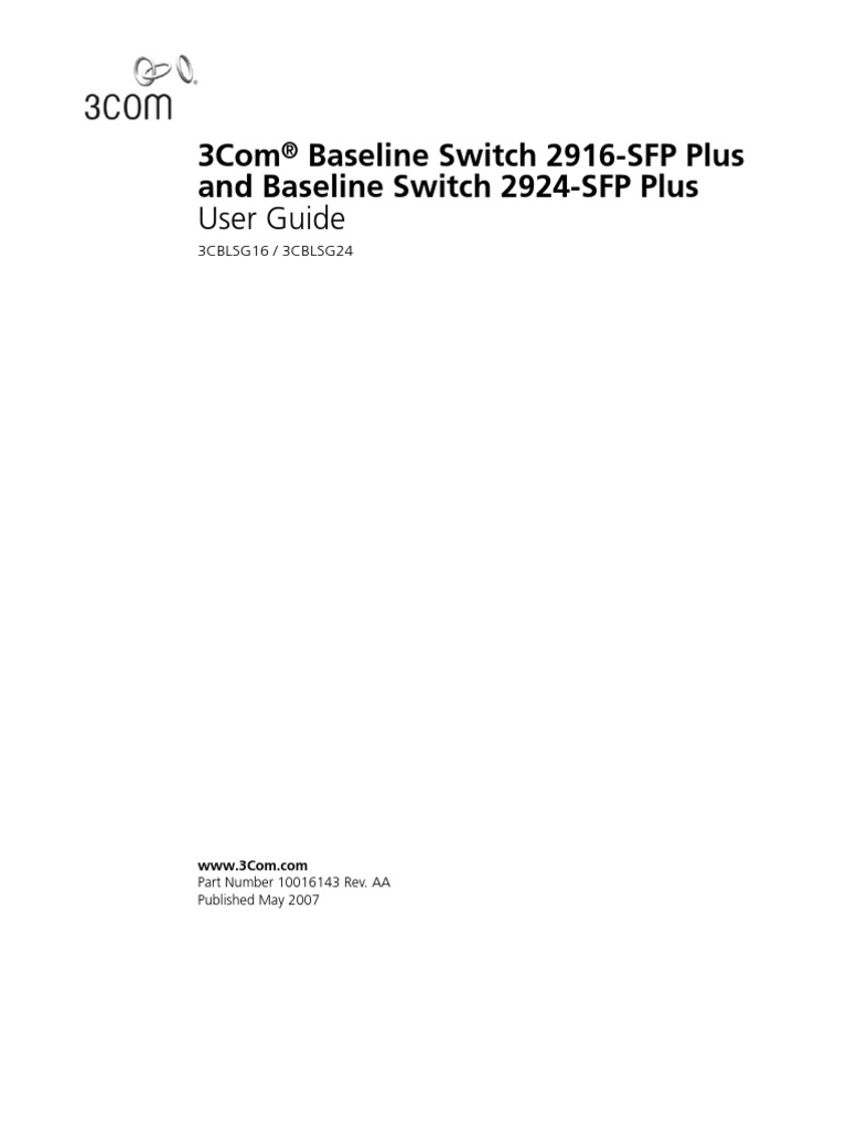 3com® baseline switch 2924-pwr plus user guide hp business.