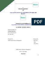 reserch report on bisleri