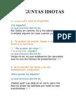 8 preguntas idiotas