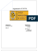 assignment 4 java