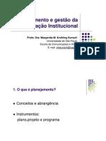 Planejamento e gestao da comunicacao institucional