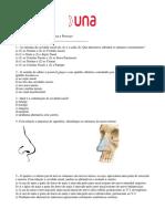Lista Cavidade Nasal