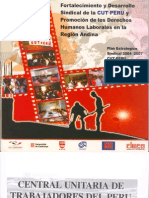 Plan Estratégico Sindical 2004-2007 CUT PERU