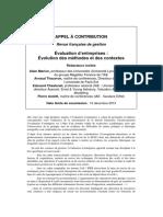 Evaluation d Entreprises