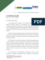 Carta Presupuesto 2008